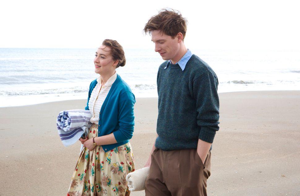 "Saoirse Ronan and Gleeson in ""Brooklyn."""