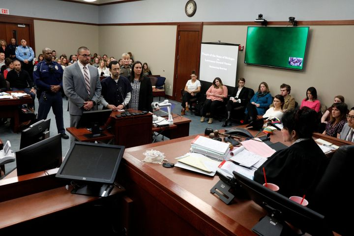 Judge Rosemarie Aquilina during Larry Nassar's sentencing hearing on Wednesday.