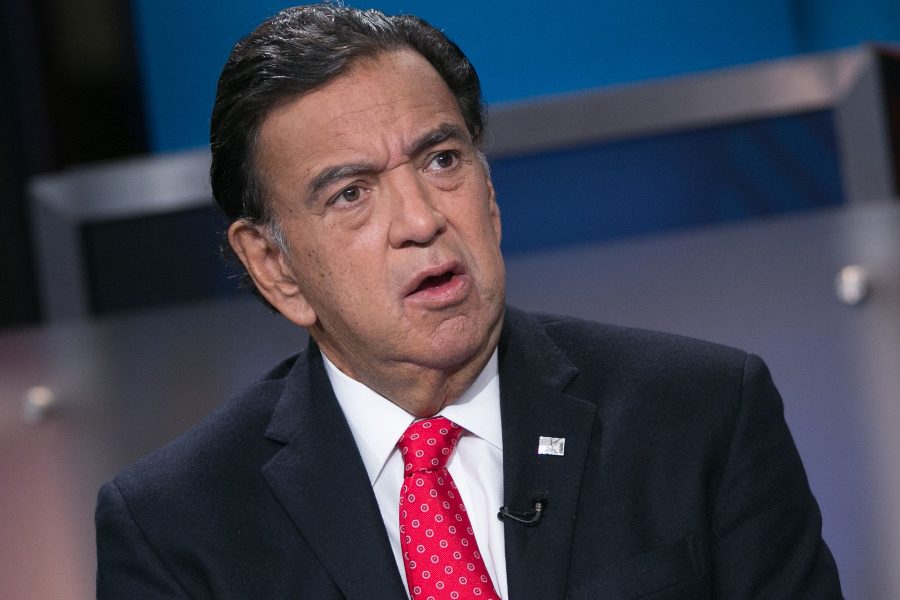 SQUAWK BOX -- Pictured: Bill Richardson, former Governor of New Mexico, in an interview on January 13, 2015 -- (Photo by: Adam Jeffery/CNBC/NBCU Photo Bank via Getty Images)