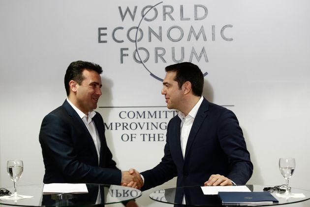 Τα αποτελέσματα της συνάντησης στο Νταβός για το Σκοπιανό: Σύνθετη ονομασία έναντι όλων ζήτησε ο Τσίπρας....