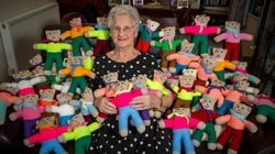 Heroic 91-Year-Old Has Knitted More Than 8,000 Teddy Bears For Children Affected By