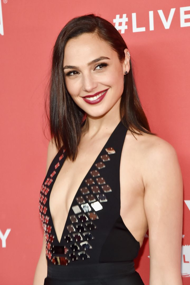 Gal Gadot poses at the Revlon Live Boldly event Thursday in New York City.