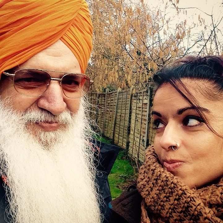 Kiran (right) and her father (left)