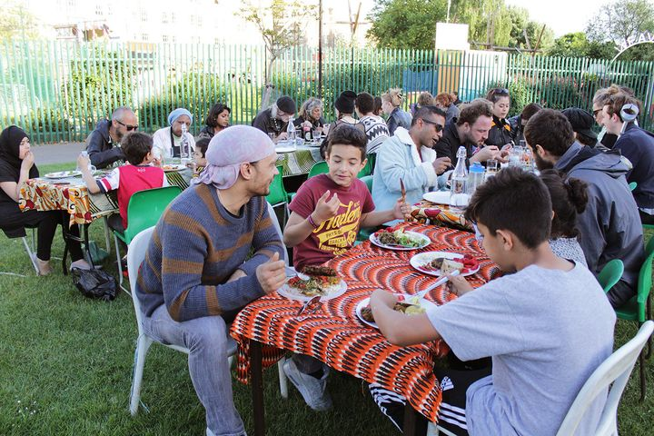 Between 35 and 50 people attend the fortnightly feasts.
