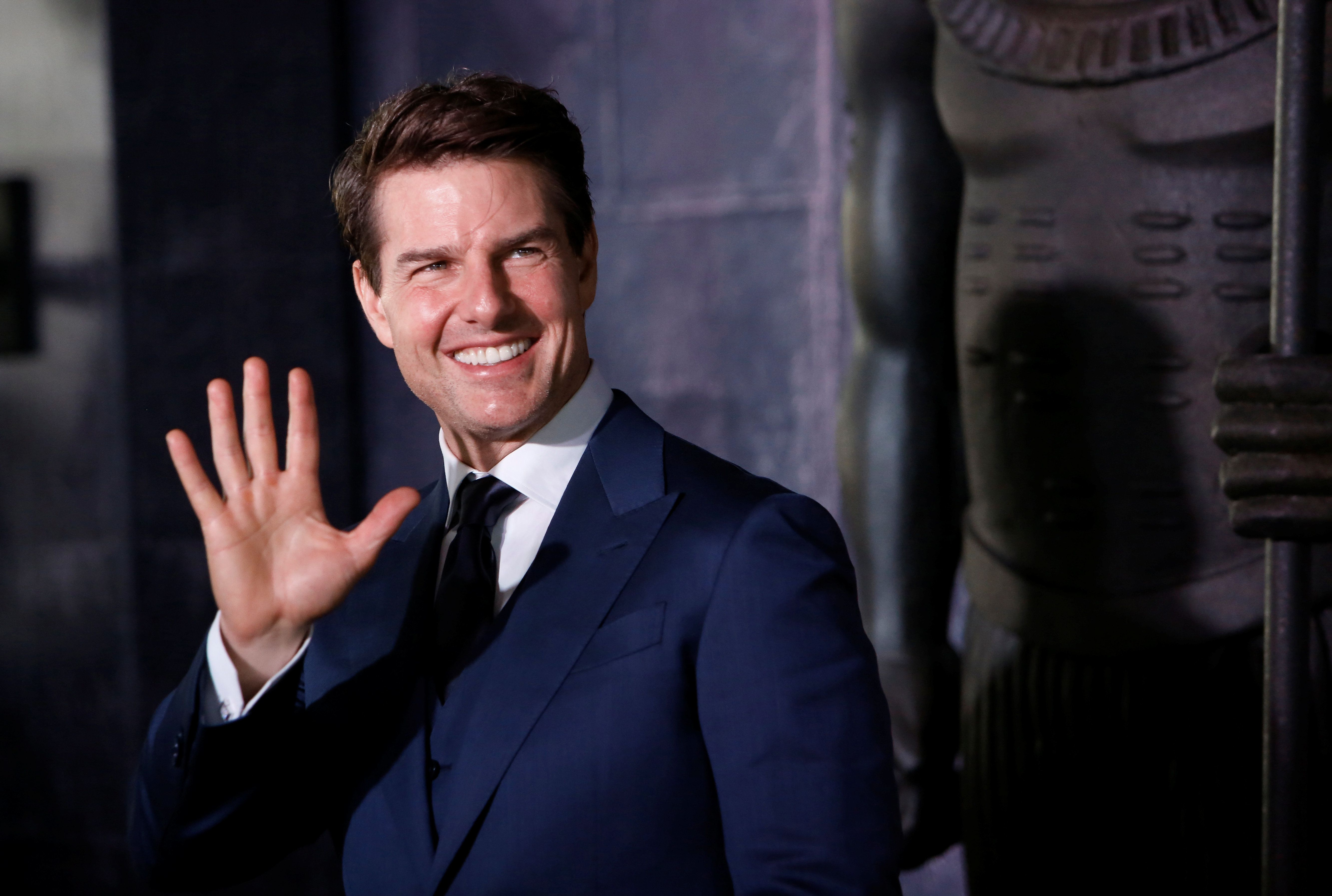 Actor Tom Cruise Poses While Promoting His Latest Film The Mummy At Plaza Carso