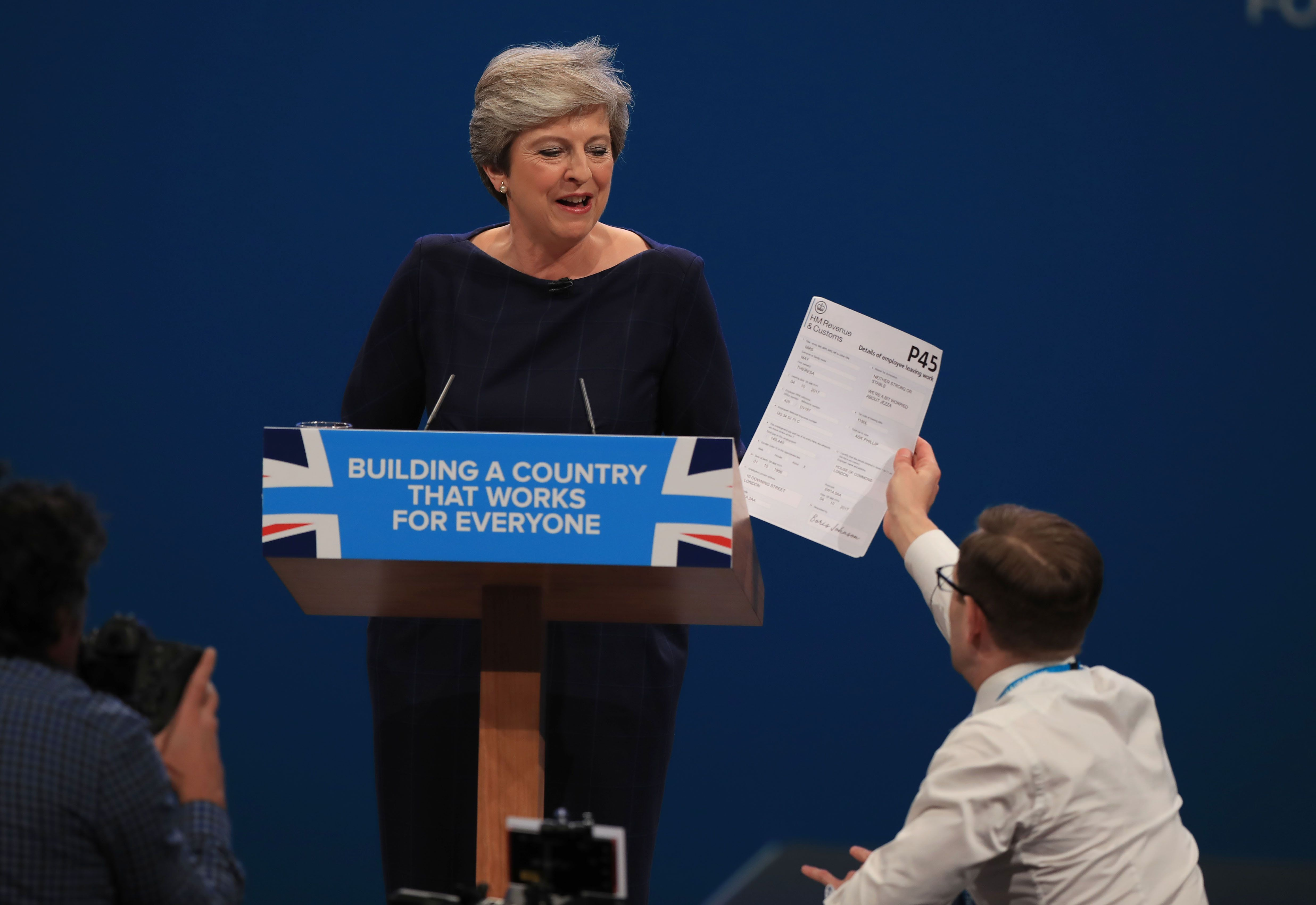 Theresa May P45 Prankster Reveals Surprising Police Reaction To Famous