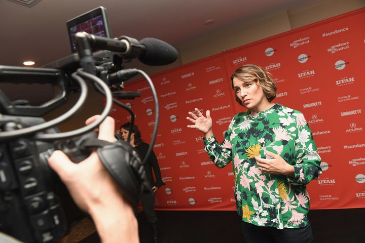 """Half the Picture"" director Amy Adrion at the Sundance Film Festival on Jan. 23."