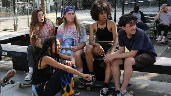"The girls in ""Skate Kitchen"" glide through the New York streets, skateboards propelling their adolescent odyssey. This motley"