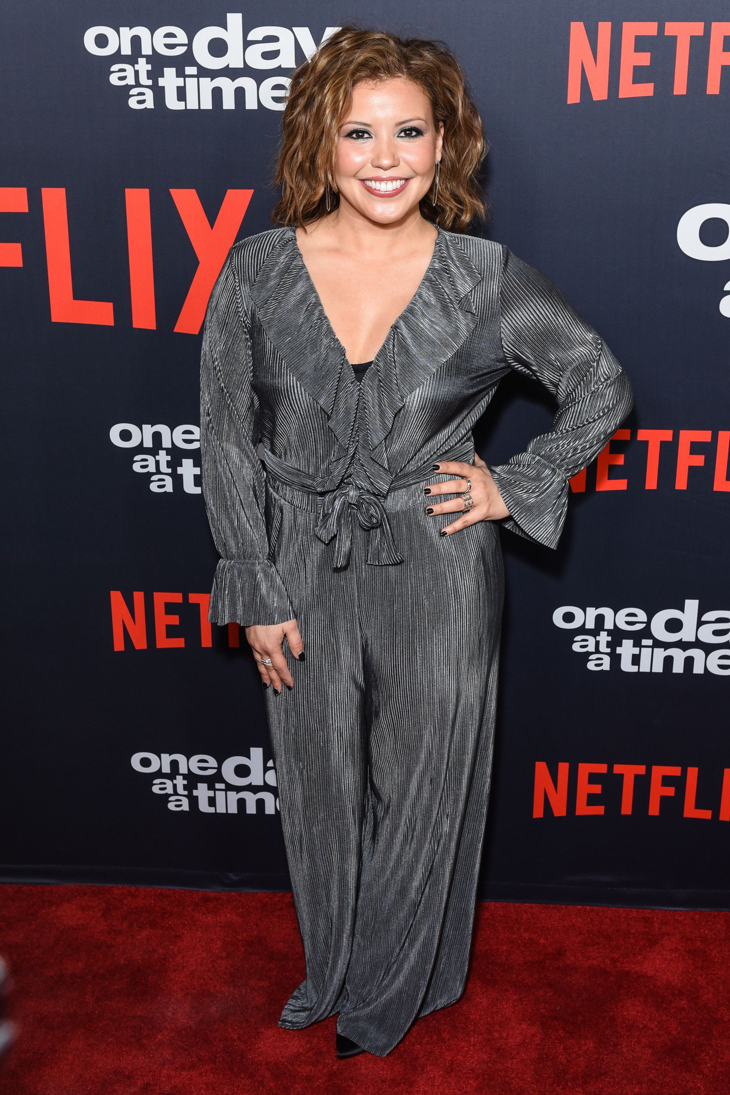 """Justina Machado attends Netflix's """"One Day At A Time"""" season two event in Los Angeles, Jan. 24, 2018."""