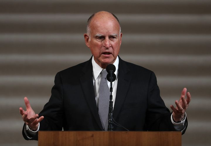 California Gov. Jerry Brown (D) in December 2017.
