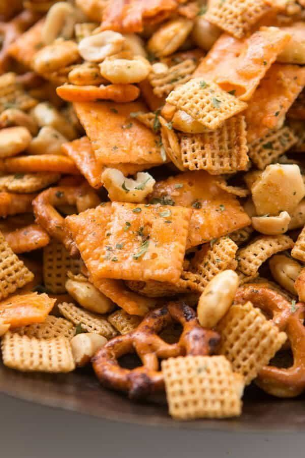 "<strong>Get the <a href=""https://ohsweetbasil.com/ranch-slow-cooker-chex-mix-recipe/"" target=""_blank"">Ranch Slow Cooker Chex"