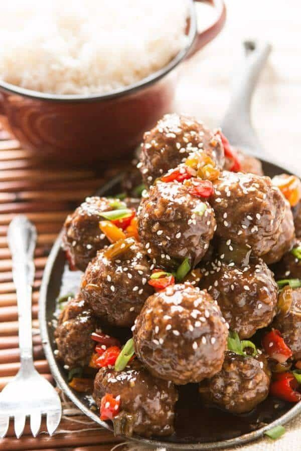 "<strong>Get the <a href=""https://ohsweetbasil.com/sweet-sour-meatballs-for-the-oven-or-slow-cooker-recipe/"" target=""_blank"">S"
