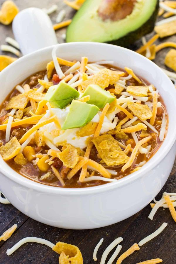 "<strong>Get the <a href=""https://ohsweetbasil.com/instant-pot-taco-soup-recipe/"" target=""_blank"">Instant Pot Taco Soup</a> re"