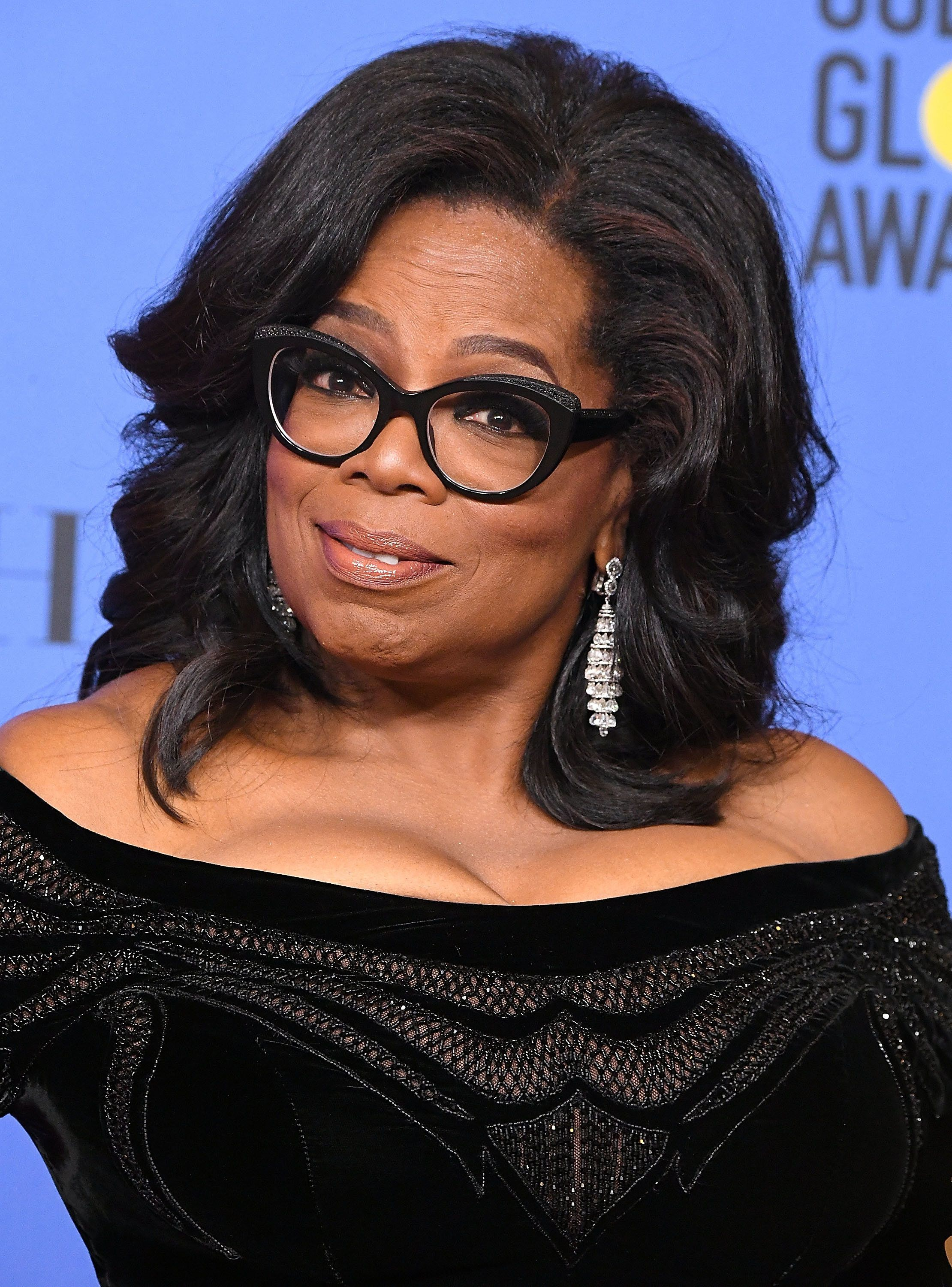 BEVERLY HILLS, CA - JANUARY 07:  Oprah Winfrey poses at the 75th Annual Golden Globe Awards at The Beverly Hilton Hotel on January 7, 2018 in Beverly Hills, California.  (Photo by Steve Granitz/WireImage)