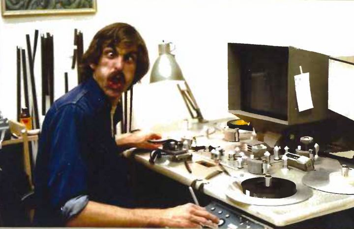 Ernie Fosselius at work in the 1970s.