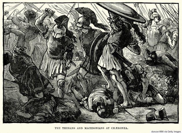 The Thebans and Macedonians at