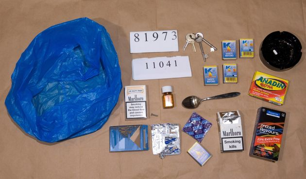 An undated police handout revealing property seized from Worboysincluding condoms, cigarettes and