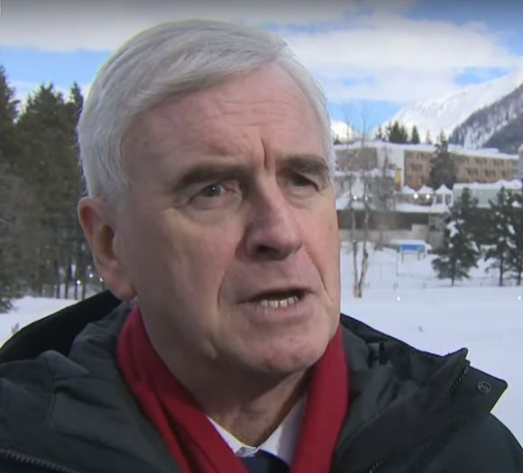 John McDonnell At Davos Hints Labour Could Back A Universal Basic
