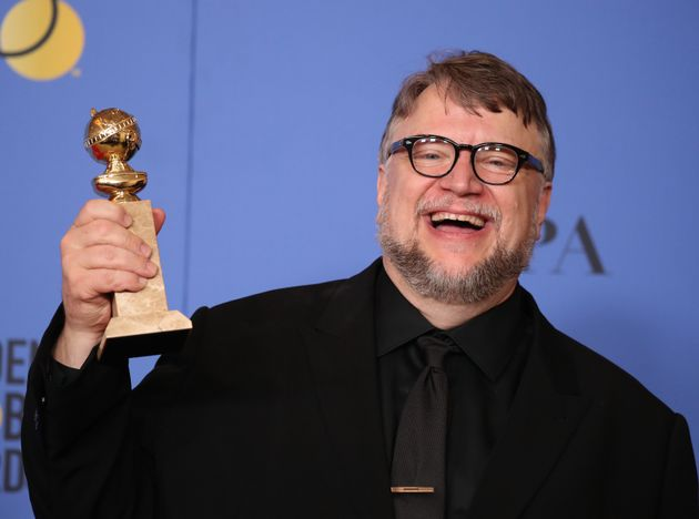Guillermo del Toro backstage at the Golden