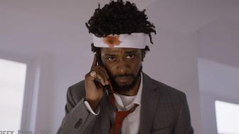 Lakeith Stanfield appears in <i>Sorry to Bother You</i> by Boots Riley, an official selection of the U.S. Dramatic Competition at the 2018 Sundance Film Festival. Courtesy of Sundance Institute | photo by Doug Emmett.  All photos are copyrighted and may be used by press only for the purpose of news or editorial coverage of Sundance Institute programs. Photos must be accompanied by a credit to the photographer and/or 'Courtesy of Sundance Institute.' Unauthorized use, alteration, reproduction or sale of logos and/or photos is strictly prohibited.