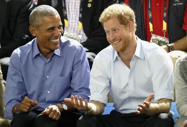 Barack Obama and Prince Harry attend the Invictus Games in Toronto in