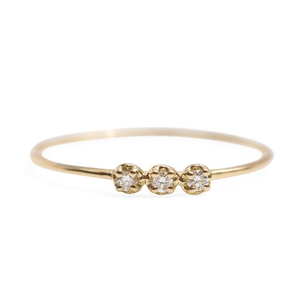 "Get it at <a href=""https://www.catbirdnyc.com/orion-white-diamond-ring.html"" target=""_blank"">Catbird</a>."