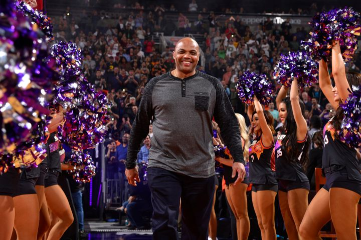 Charles Barkley, pictured Jan. 12 at a Phoenix Suns game, went on the offensive after a viewer tweeted an insult about his we