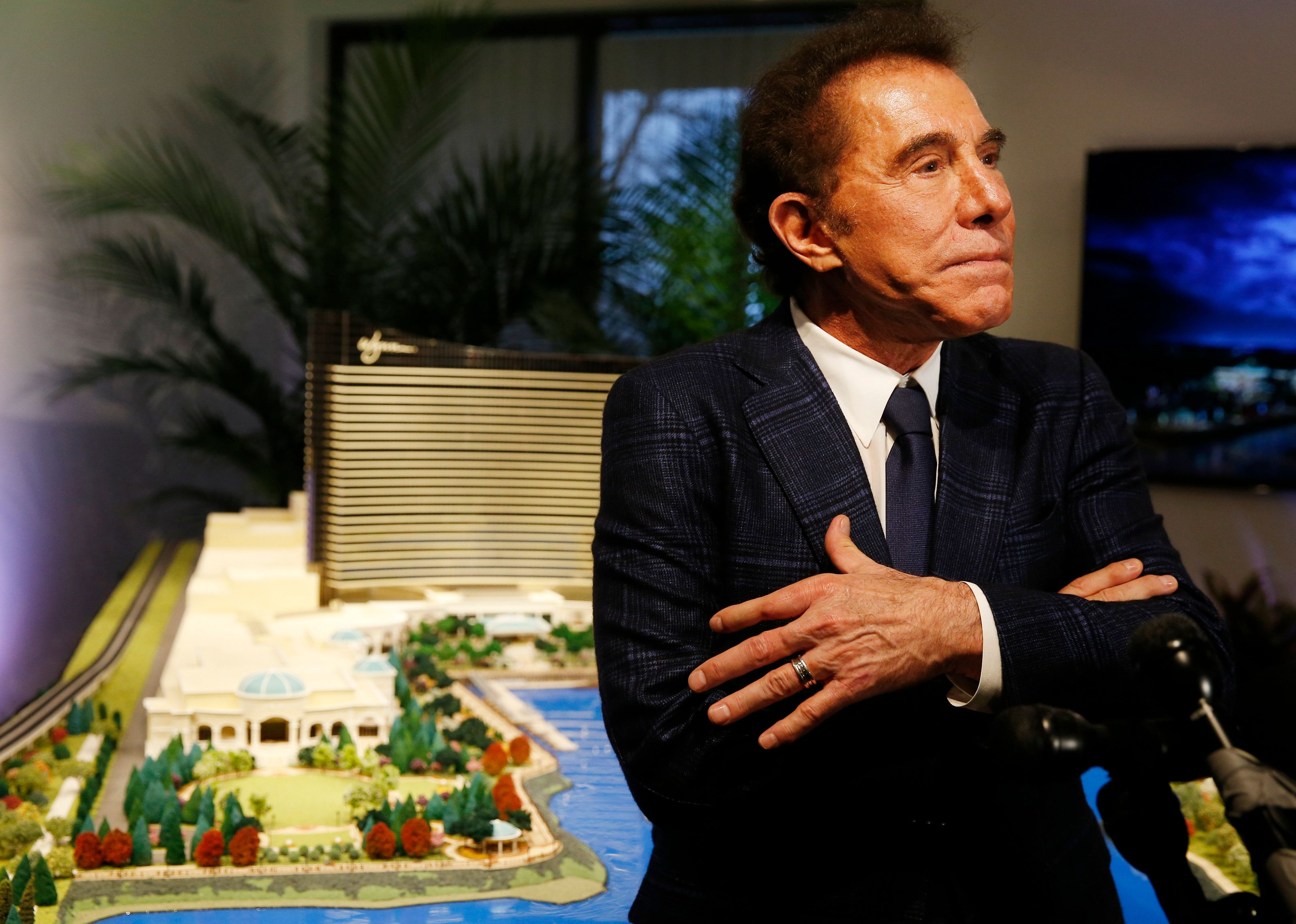 MEDFORD, MA - MARCH 15: Steve Wynn speaks to reporters about a planned casino in Everett during a press conference in Medford, Mass., on March 15, 2016. (Photo by Jessica Rinaldi/The Boston Globe via Getty Images)