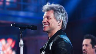 NEW YORK - JANUARY 17: The Late Show with Stephen Colbert and guest Jon Bon Jovi during Wednesday's January 17, 2018 show. (Photo by Scott Kowalchyk/CBS via Getty Images)