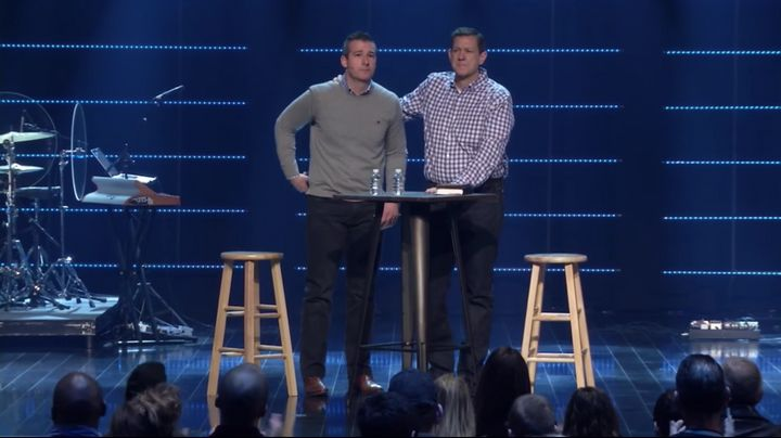 """The congregation at Highpoint Church gave pastor Andy Savage a standing ovation after he confessed to a """"sexual incident"""" with a member of the church where he worked in 1998."""