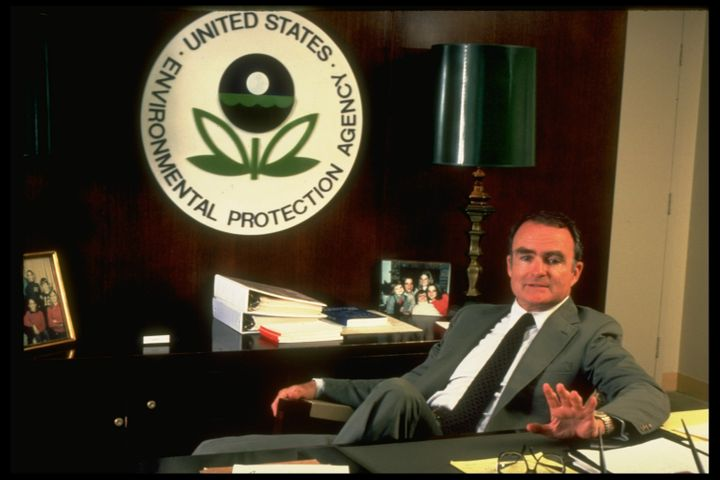 William Ruckelshaus at the EPA in the 1980s.