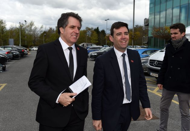 Liverpool and Manchester Metro Mayors Steve Rotheram and Andy