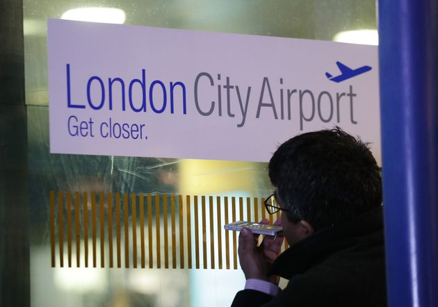 The plane was taking off from London City