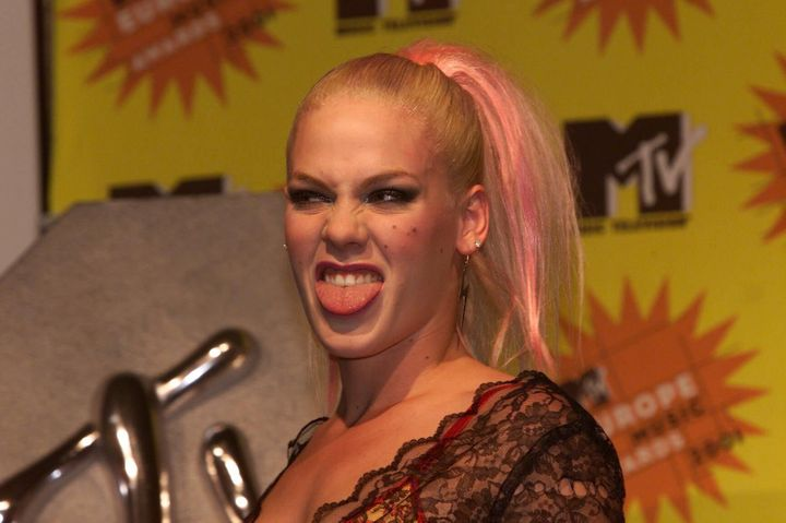 Pink at the MTV Europe Music Awards in Frankfurt in 2001.