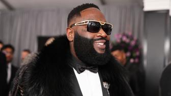 NEW YORK, NY - JANUARY 28:  Recording artist Rick Ross attends the 60th Annual GRAMMY Awards at Madison Square Garden on January 28, 2018 in New York City.  (Photo by Christopher Polk/Getty Images for NARAS)