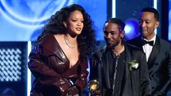 Rihanna's Grammy Trench Coat Was 'Chocolate Patent Leather'