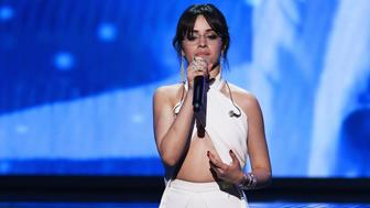 NEW YORK, NY - JANUARY 28:  Recording artist Camila Cabello speaks onstage during the 60th Annual GRAMMY Awards at Madison Square Garden on January 28, 2018 in New York City.  (Photo by Kevin Winter/Getty Images for NARAS)