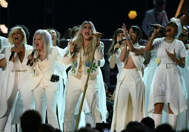 Kesha on stage at the