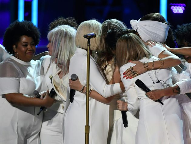 The women on stage