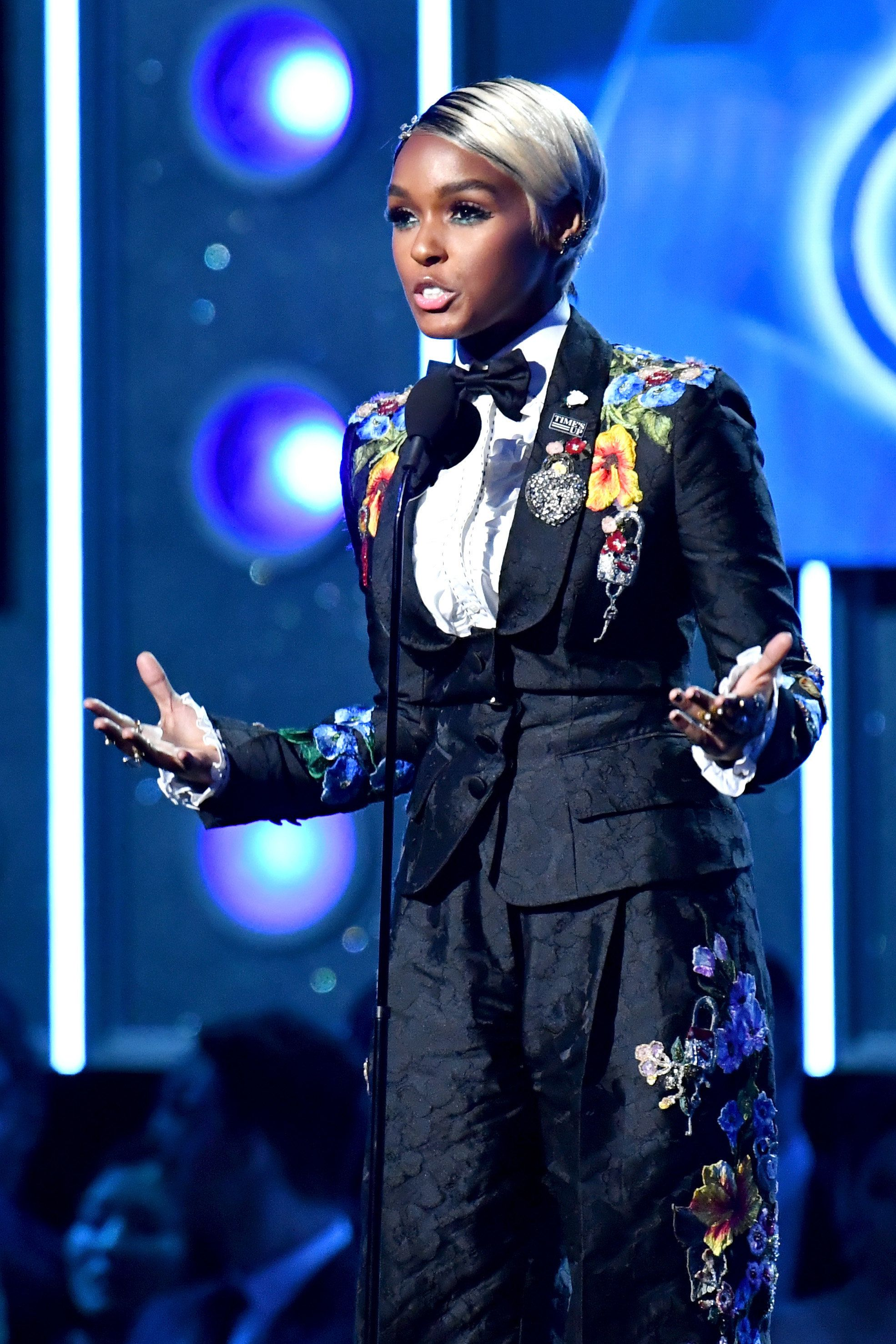 Janelle Monáe Shows Support For 'Time's Up' Movement With Empowering Grammys