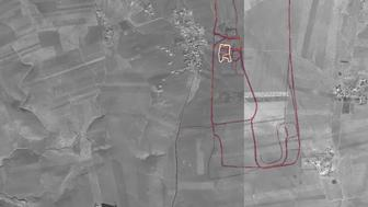 A Strava Heat Map screenshot outlining a US Military base