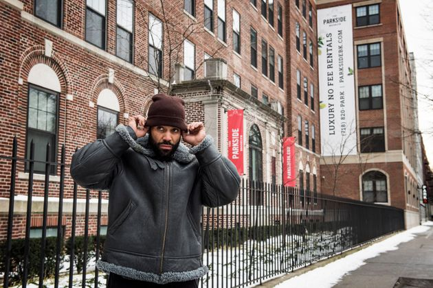 Brooklyn resident Sinaka Garcia stands in front of the hospital he was born in. Two-bedroom apartments...