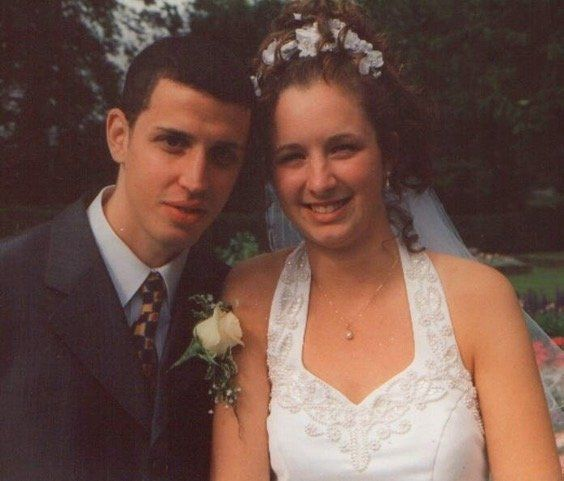 Michelle and Daniel on their wedding day.