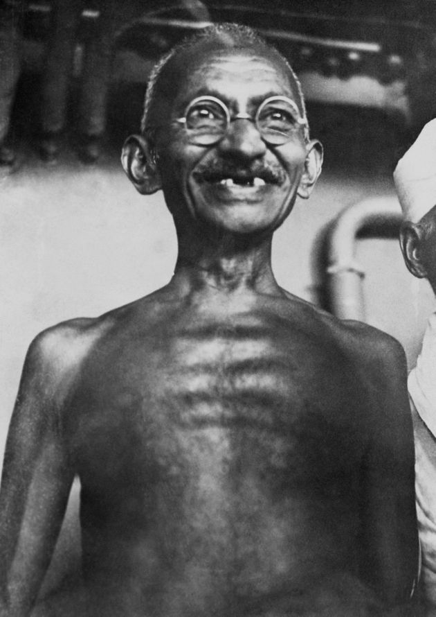 Gandhi on board the boat that brought him from India to England in