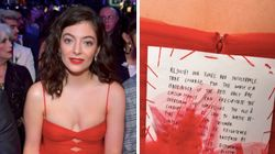 Lorde Wore A Feminist Message Sewn On The Back Of Her Grammys