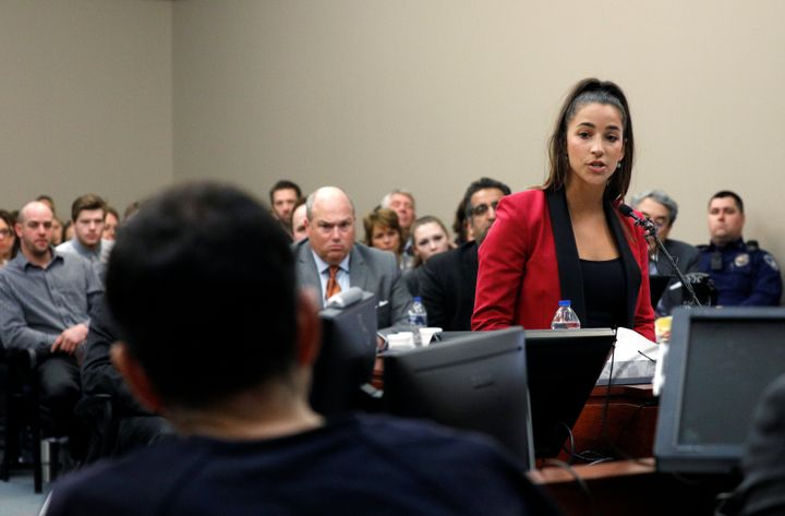 Olympic gymnast Aly Raisman, who was abused by Nassar, delivers her powerful impact statement to Nassar in court on Jan. 19,