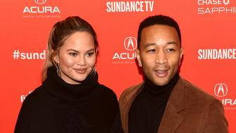 PARK CITY, UT - JANUARY 22:  Chrissy Teigen (L) and John Legend attend the 'Monster' Premiere during the 2018 Sundance Film Festival at Eccles Center Theatre on January 22, 2018 in Park City, Utah.  (Photo by Nicholas Hunt/Getty Images)