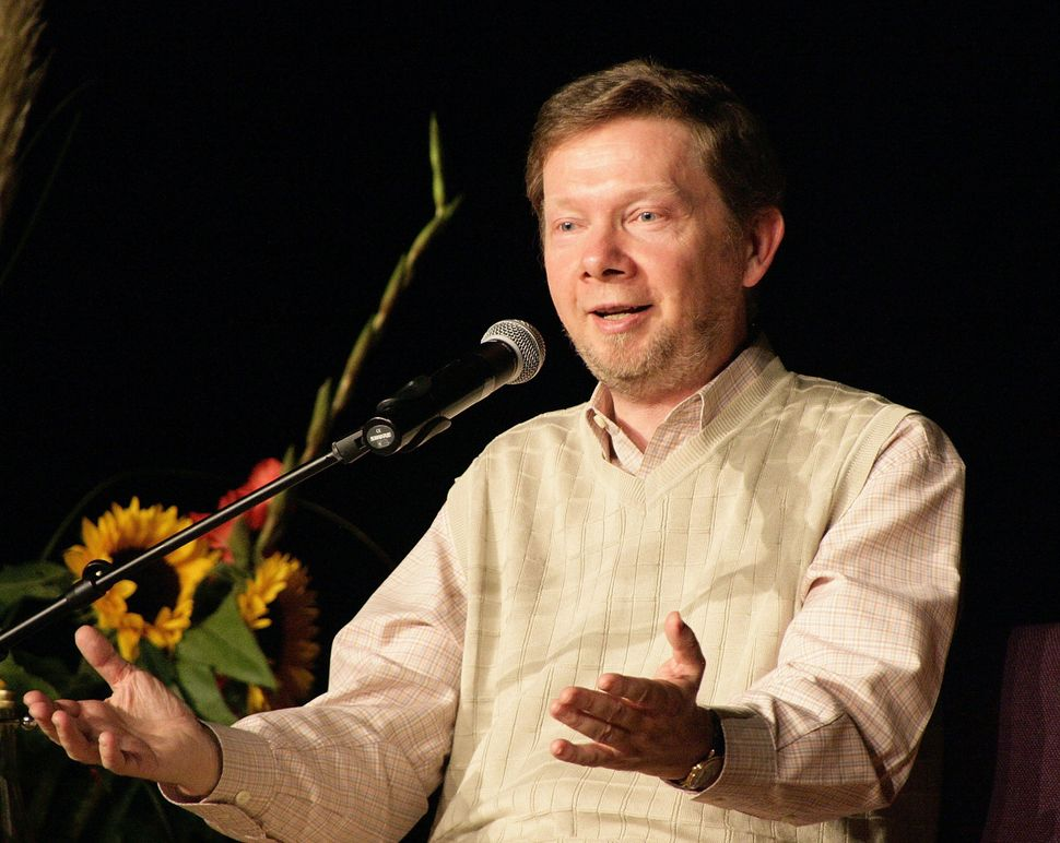 Eckhart Tolle during a reading in Berlin in 2007.