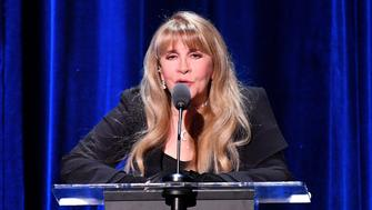 NEW YORK, NY - JANUARY 26:  Honoree Stevie Nicks speaks onstage during MusiCares Person of the Year honoring Fleetwood Mac at Radio City Music Hall on January 26, 2018 in New York City.  (Photo by Dia Dipasupil/Getty Images)