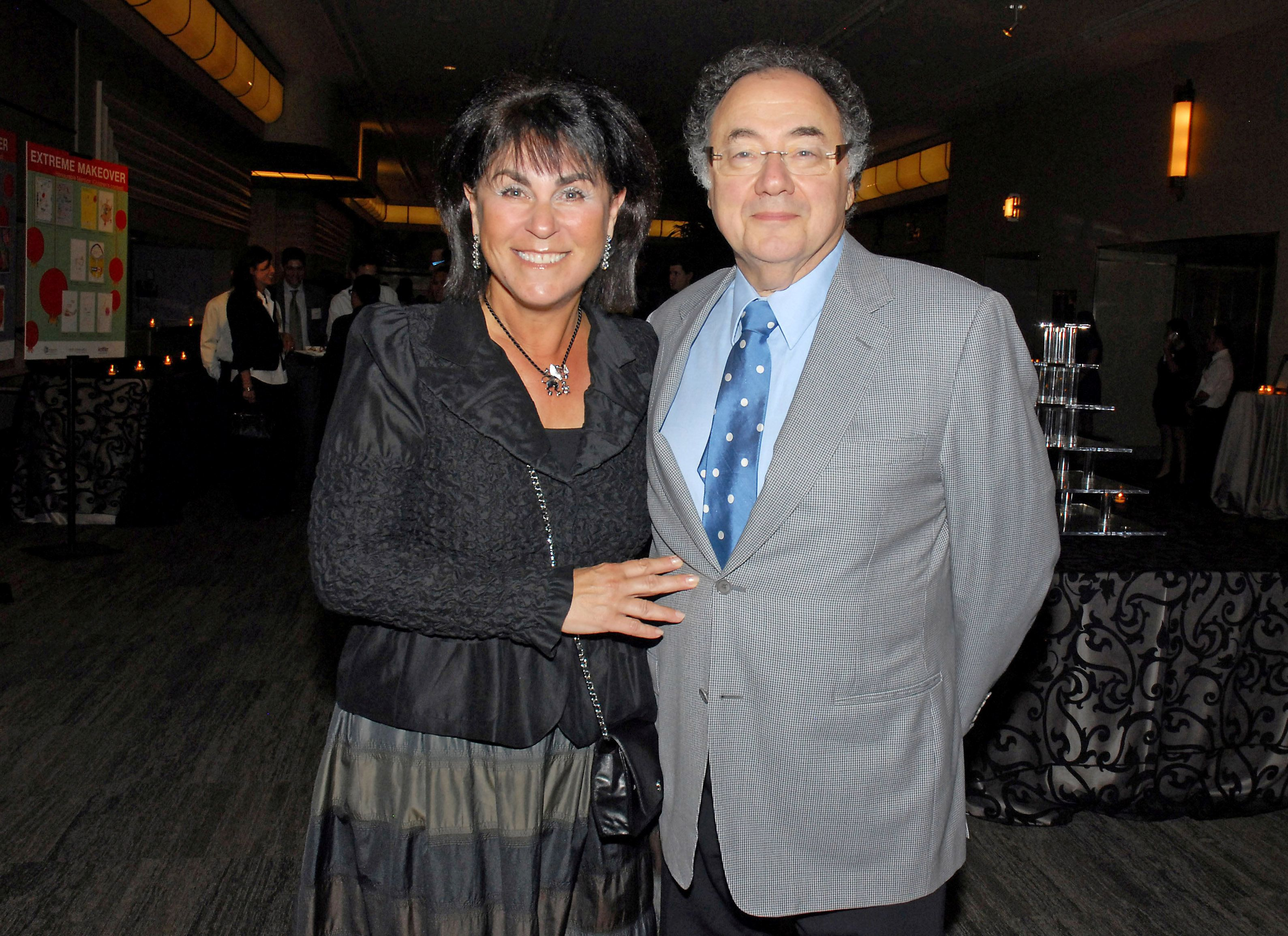 Honey and Barry Sherman, Chairman and CEO of Apotex Inc., are shown at a 2010 fundraiser in Toronto.